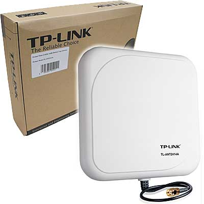 Antenas WIFI TP-Link ANTENA 14DBI DIRECC CON BASE+CABLE TP-LINK TLANT2414A
