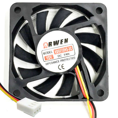 FAN 60mm 3PIN 10mm ESPESOR 4500RPM BUJE ARWEN