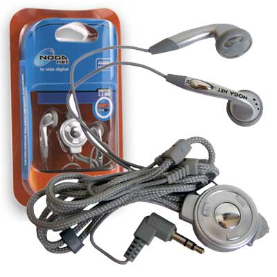 AURICULAR NOGANET MP3/MP4 MINIPLUG 2,5 mm C/ADAPT 3,5mm ¡¡¡OUTLET!!!