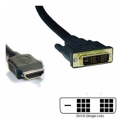 CABLE DVI-D 18+1 MACHO-HDMI MACHO SINGLE LINK  1,8 MTS