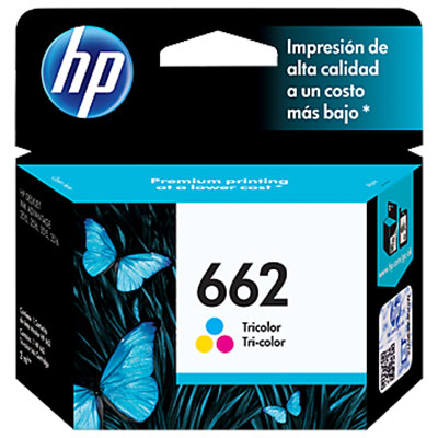 CARTUCHO HP 662 ADVANTAGE (CZ104AL) TRICOLOR