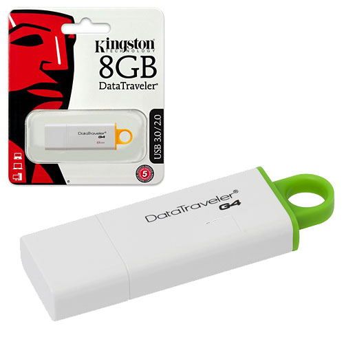 PENDRIVE  8GB USB 3.0 KINGSTON DTIG4 BLANCO