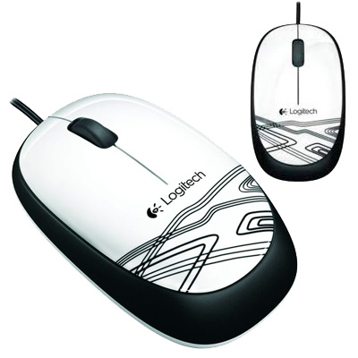 MOUSE OPTICO USB 1000 DPI LOGITECH M105 BLANCO