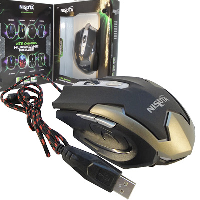 MOUSE GAMER OPTICO USB 2400 DPI 6 BOTONES NISUTA NSMOG66