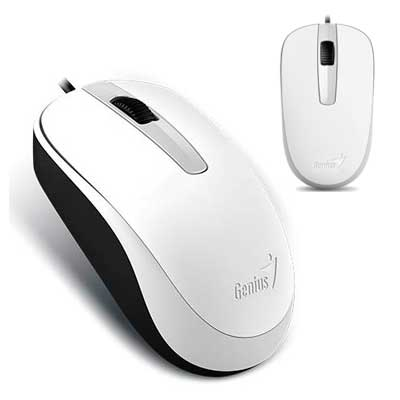 MOUSE OPTICO USB 1200 DPI GENIUS DX-120 BLANCO