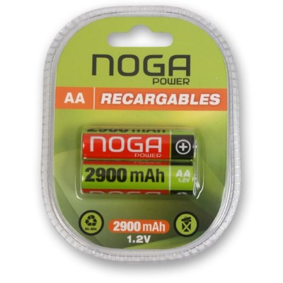 PILA AA RECARGABLE 2900MAH NOGANET NICKEL METAL BLISTER X2