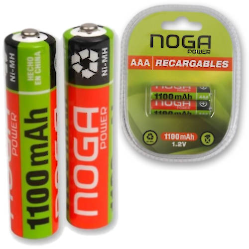 PILA AAA RECARGABLE 1100MAH NOGANET NICKEL METAL BLISTER X2