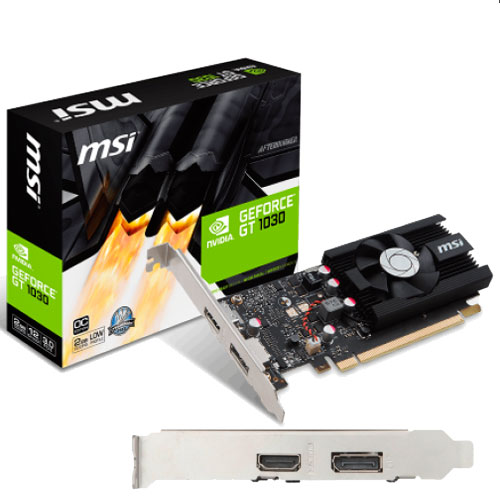 PLACA VIDEO PCI-E GEFORCE GT 1030 2G LP OC 2GB GDDR5 LOW PROFILE HDMI DISPLAYPORT
