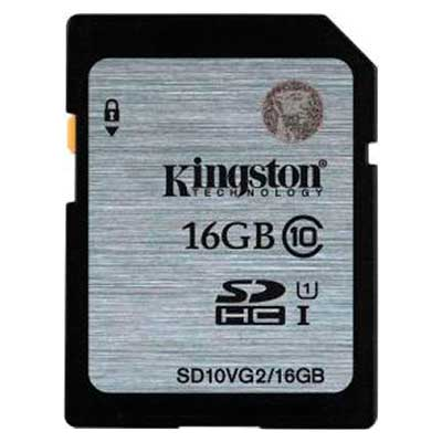 MEMORIA SD HC 16GB KINGSTON CLASE  10 UHS-I