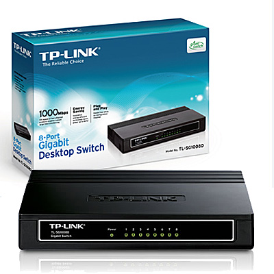 SWITCH  8 PUERTOS 10/100/1000 TP-LINK GIGABIT TL-SG1008D