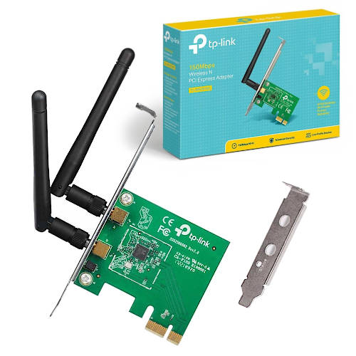 PLACA RED WIFI N 300MBPS TP-LINK PCI 2ANT 2DBI TL-WN881ND