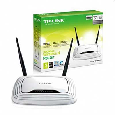 ROUTER WIFI N 300MBPS 4PTO 2ANT  FIJA 5DBI TP-LINK TL-WR841N