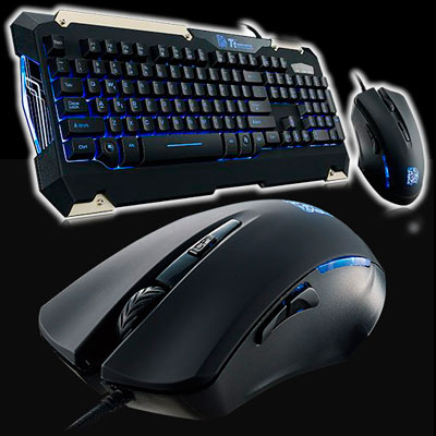 TECLADO + MOUSE GAMER THERMALTAKE COMMANDER LIGHTNING RETROILUMINADO MULTIMEDIA EN ESPAÑOL