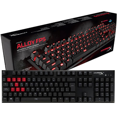 TECLADO GAMER KINGSTON HYPERX ALLOY FPS RED EN ESPAÑOL