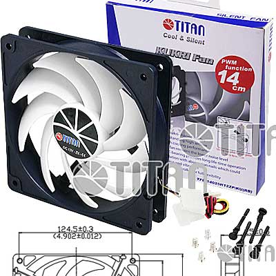 FAN 140mm 3PIN 25mm ESPESOR 1300RPM RULEMAN TITAN
