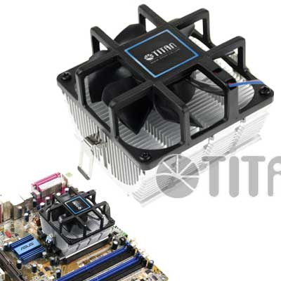 COOLER AMD   K8/AM2,+/AM3,+/FM1/FM2 TITAN DCK8J825Z/N RULEM