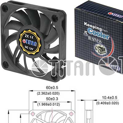 FAN 60mm 3PIN 10mm ESPESOR 4000RPM BUJE TITAN