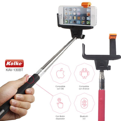 BASTON PARA SELFIE CELULAR DISPARADOR BLUETOOTH KOLKE