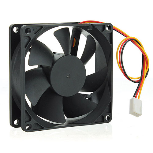 FAN 80mm 3PIN 25mm ESPESOR 1000RPM BUJE