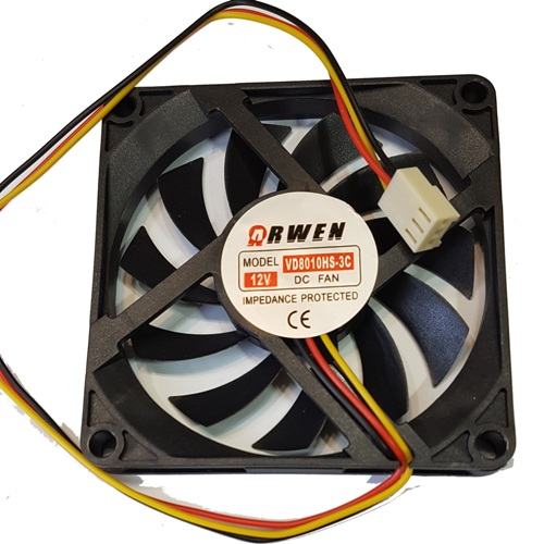 FAN 80mm 3PIN 10mm ESPESOR 3000RPM BUJE ARWEN