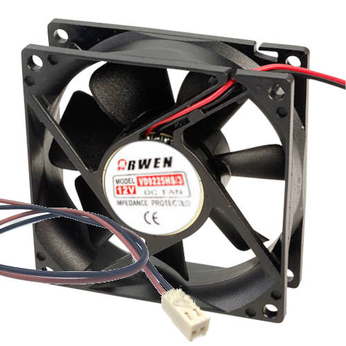 FAN  92mm 2PIN 25mm ESPESOR 3200RPM RULEMAN ARWEN