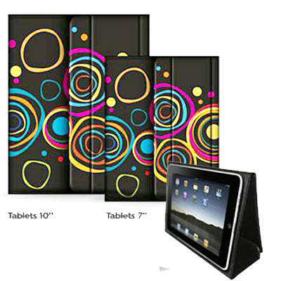 PORTA TABLET  7 PULG  PLEGABLE CIRCULOS ¡¡¡OUTLET!!!