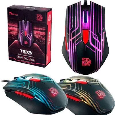 MOUSE GAMER OPTICO USB 3000 DPI THERMALTAKE TALON OMRON MO-TLN-WDOOBK-01