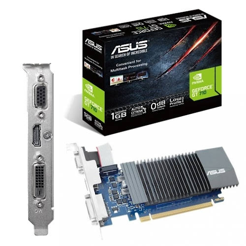 PLACA VIDEO PCI-E 1GB GEFORCE GT710 ASUS DDR5 D-Sub DVI-D HDMI