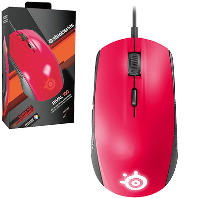 MOUSE GAMER OPTICO USB 4000 DPI STEELSERIES RIVAL 100  FORGE RED RGB