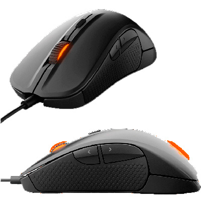 MOUSE GAMER OPTICO USB 6500 DPI STEELSERIES RIVAL 300  BLACK